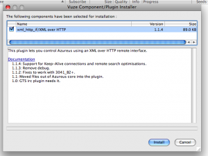Installing the Vuze XML over HTTP plug-in via the wizard
